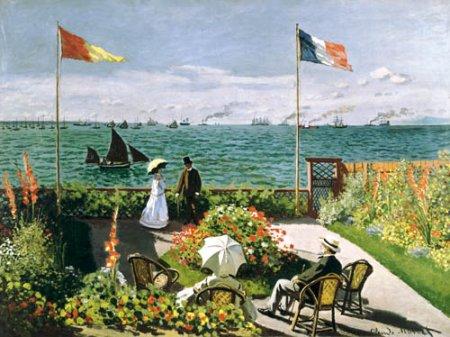 Terrazza a Sainte-Adresse di Monet