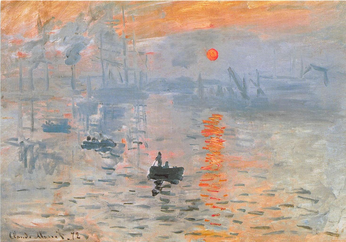 Impression. Soleil levant di Monet